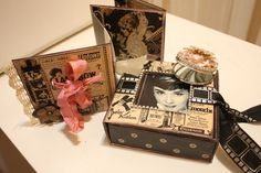 Denise Hahn Graphic 45 Curtain Call Altered Audrey Gift Box  - 14