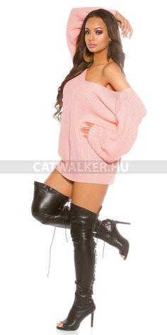 Kötött ruha bő fazonú - rózsaszín  Anyaga: 100% Acrylic  Egyméret (onesize), ami xs-m méretig jó!  Származási hely: EU.