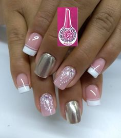 Gorgeous Nails, Love Nails, Pink Nails, Luxury Nails, Cute Nail Designs, Pedicure, Hair Beauty, Nail Art, Stickers