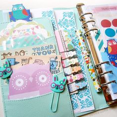 catherina.art: Pockets of my new dokibook planner stuffed with stationery. #plannerdecorations #stationeryaddict