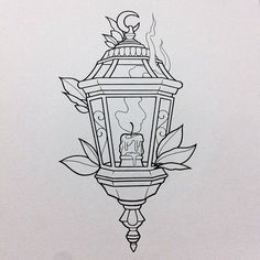 Tattoo Traditional Filler Flash Art 68 New Ideas Desenho New School, Dessin Old School, Tattoo Sketches, Art Sketches, Art Drawings, Kunst Tattoos, Body Art Tattoos, Zentangle, Lantern Drawing