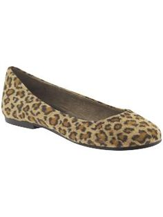 If you don't have a pair or leopard or snake skin flats you must get some for fall. Perfect hip neutral.