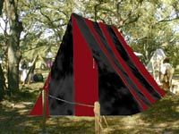 Large Viking Wedge Tent Black/Red