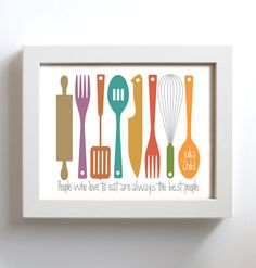 Kitchen Art Mid Century Modern Art for Kitchen Decor by DexMex, $18.00