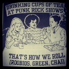 "Punk Rock Tea  From ""It's just a Phase. Punk Rock Straight Edge Vegan Zine"""