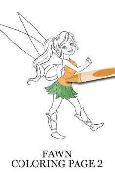 Fawn coloring page tinker bell and the legend of the for Fawn fairy coloring pages