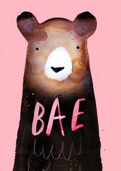 Bae Bear| Valentine's Day Card For your Bae who loves Teddy bears. A cute, romantic valentine's or anniversary card. Perfect for a cuddly boyfriend, girlfriend, husband or wife.