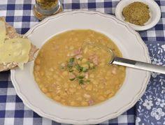 Ärtsoppa med rimmat fläsk Swedish Recipes, I Love Food, Healthy, Ethnic Recipes, Iceland, Dinners, Ice Land, Dinner Parties, Food Dinners