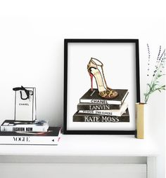 Louboutin Shoe Poster PRINTABLE FILE fashion poster by Dantell on Etsy. 20x24. OMG I love this!!