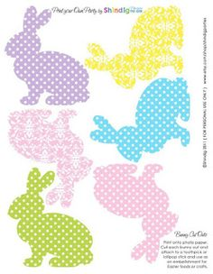 Photo: Easter Bunny Cut Outs Easter Peeps, Happy Easter, Easter Bunny, Easter Templates, Easter Printables, Free Printables, Bunny Party, Easter Party, Easter Projects