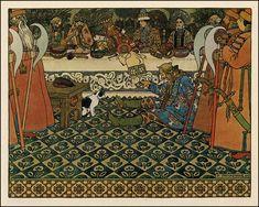 "Ivan Bilibin, illustration for Alexander Pushkin's ""The Tale of the Tsar Saltan"", 1905."