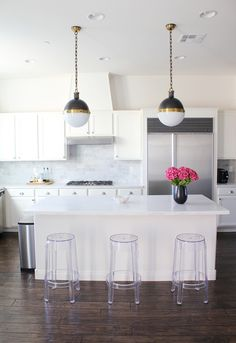 ghost barstools kitchen