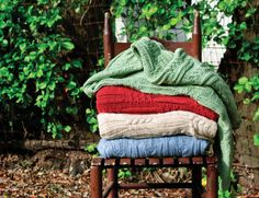 Divine Cable Knit Throws.