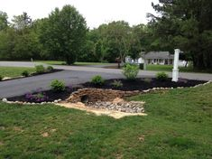 West Circle Long Driveway Landscaping Ideas With Boxwood Semi Half . circle driveway dimensions - All About Driveway Culvert, Driveway Entrance Landscaping, Driveway Design, Hillside Landscaping, Landscaping With Rocks, Outdoor Landscaping, Landscaping Ideas, Driveway Ideas, Driveway Posts