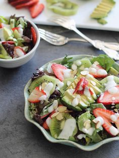 Strawberry Avocado Honey Lime Salad | runningtothekitchen.com by Runningtothekitchen, via Flickr