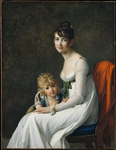 Not a photo but love the casual modern pose! Madame Philippe Panon Desbassayns de Richemont (Jeanne Eglé Mourgue, and Her Son, Eugène Artist: Marie Guillelmine Benoist (French, Paris Paris). Oil on canvas. The Metropolitan Museum of Art. Metropolitan Museum, John Russell, Jeanne, A4 Poster, Jane Austen, Woman Painting, Madame, Mother And Child, Beautiful Paintings