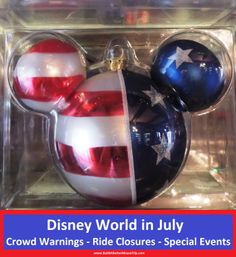 Disney World in July - information about ride closures, special events and crowd warnings in one easy list.  See: http://www.buildabettermousetrip.com/wdw-july-crowds-closures-special-events/  #Disneyworld #WDW