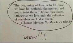 the beginning of love...