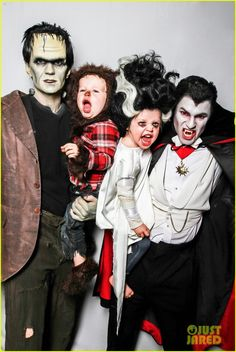 Neil Patrick Harris and his partner David Burtka always come up with amazing Halloween costumes for themselves and their adorable twins… and this year was no exception!  The family went for a monster theme this year with Neil going as Frankenstein, David as Dracula, Harper as the Bride of Frankenstein, and Gideon as a werewolf