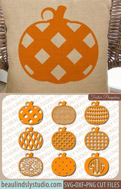Pumpkins SVG, Fall Pumpkin SVG File, Happy Halloween Pumpkin SVG For Silhouette, Happy Thanksgiving Pumpkin svg For Cricut, Pumpkin Monogram File, PNG Image File, DXF File  This is a huge set of different patterned pumpkins, that range from simple to complex, Chevron, Polka Dot, Damask, Plaid, Monogram and so many more! With so many choices, you could make an endless number of projects, gifts, decorations etc. They could be used all Fall, Halloween and Thanksgiving! by…