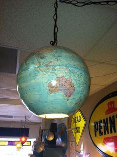 Cool vintage globe lamp