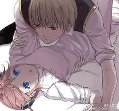 Anime: Gintama Personagens: Okita Sougo e Kagura