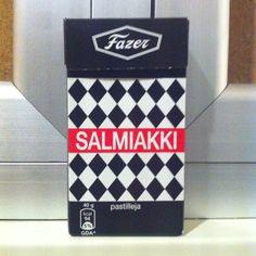 Tämä on suomalainen karkki.   This is THE finnish candy - salty and sweet salmiac.