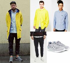 Rainy Day Outfit Grid | Shop the look now at The Idle Man | #StyleMadeEasy