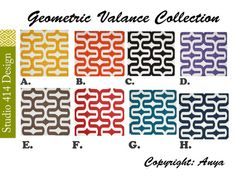 Geometric Placemats Geometric Table Cloth- Runner or 12 x Modern Valances, Custom Valances, Contemporary Table Runners, Geometric Pillow, Throw A Party, Decorative Pillow Covers, Wedding Table, Wedding Ideas, Table Decorations