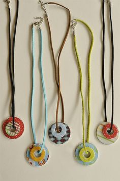 cute washer necklaces