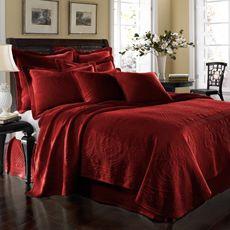 King Charles Matelasse Scarlet Coverlet, 100% Cotton - Bed Bath & Beyond