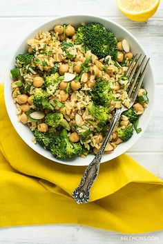 Broccoli and Chickpea Rice Bowl