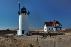 Cape Cod Lighthouses   Race Point Lighthouse in Cape Cod. Provincetown, Massachusetts, April ...