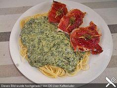 Gorgonzola-Spinat Soße mit Pasta (Rezept mit Bild) | Chefkoch.de
