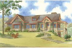 House Plan 923-45like 2 bed 2 bath and bunk lower level..the rest can be tweaked..not wild about exterior too suburban