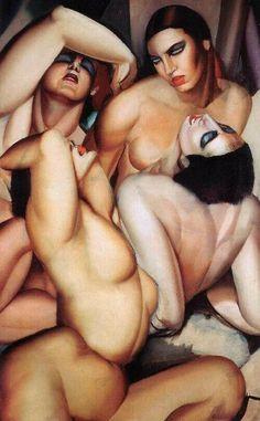 by artist Tamara Lempicka aka Tamara de Lempicka, (b.May 1898 Warsaw Poland - d. March Cuernavaca, Mexico) was a Polish Art Deco painter. Art Nouveau Pintura, Tamara Lempicka, Moda Art Deco, Estilo Art Deco, Art Deco Stil, Illustration Art, Illustrations, Art For Art Sake, Oeuvre D'art