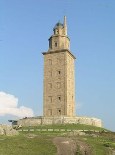 La Corunna, Spain The oldest lighthouse in the world, the Tower of Hercules, also referred to as the Corunna Lighthouse or Farum Brigantium, was constructed sometime in the second century. It is located in northwest Spain outside the city of Corunna. The Roman-built tower is believed to have been based on the Lighthouse of Alexandria.