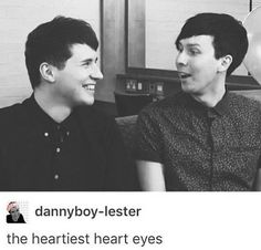 Maybe it's just me but I think Phil is looking at Dan's lips......