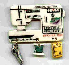 Ceramic Sewing Machine Pin Bernina 1260 Model Handcrafted