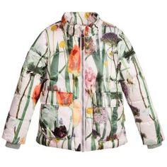 Molo - Girls Floral 'Hera' Padded Jacket with Hood | Childrensalon