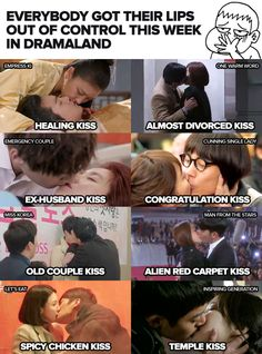 Kdrama Kisses. hahaha! for real! I love it though ^_^ YAY for happy kdrama couples-ish!! :D