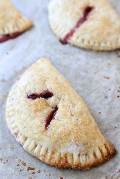 Strawberry Dark Chocolate Hand Pies Recipe on twopeasandtheirpod.com Fun pies to make and eat! #pie #strawberry