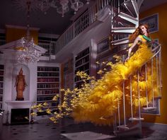 Few photos completely take my breath away the second I look at them. This is one of them. Away with the Canaries, shot by the ever talented photographer Miss Aniela, is a beautifully surreal image that she perfectly describes as photo meets painting.