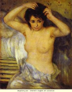Pierre-Auguste Renoir. Bust of a Woman,  also called Before the Bath or The Toilet.