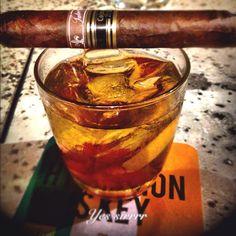 An old fashion $12, premium cigar $15, no stress priceless.
