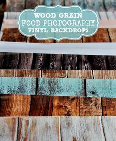 Wood Grain Food Photography Vinyl Backdrops