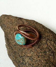 Copper Wire Wrapped Ring by Dreswireddesigns on Etsy