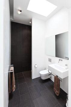 dark tile - modern bath