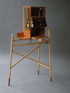 david gates, dressing table -  Wesley-Barrell Craft Award Crate Furniture, Furniture Design, Furniture Ideas, David Gates, Crates, Woodworking, Studio Ideas, Dressing Table, Chair