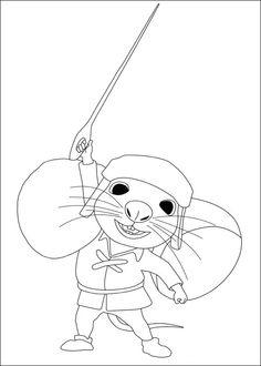 Dibujos para Colorear El valiente Despereaux 2